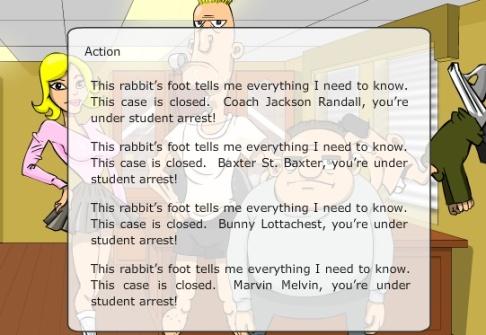 final screen high school detective