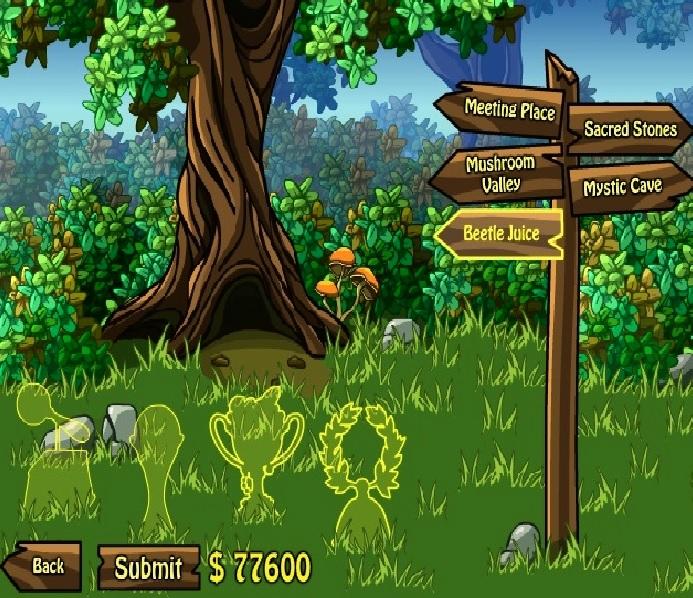 frog dares game menu