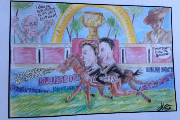 victorian state election cartoon