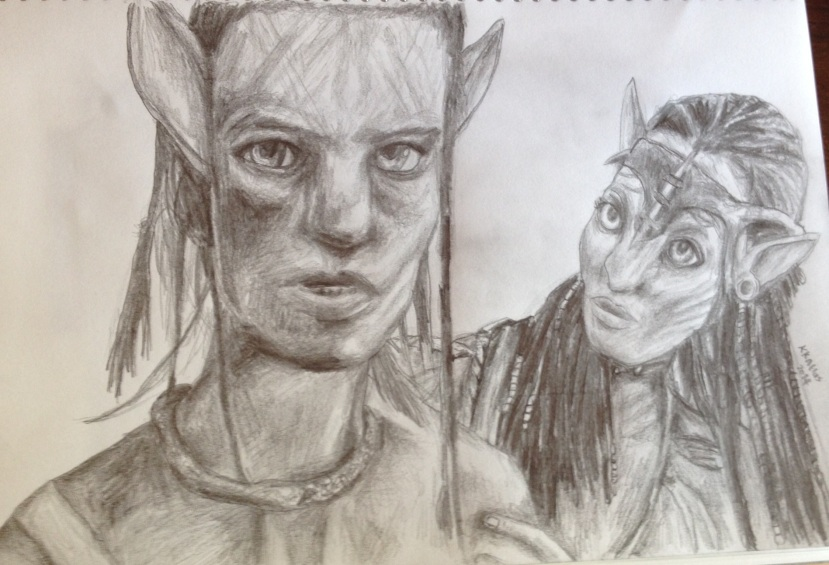 avatar art jake and neytiri