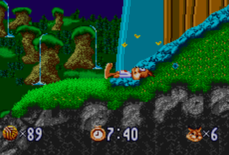 Bubsy's death sequence is definitely not a sight for sore eyes